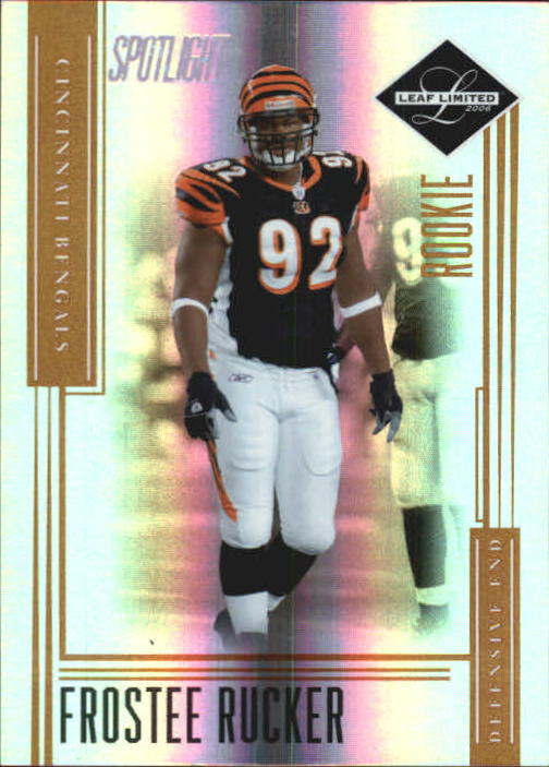 2006 Leaf Limited Bronze Spotlight #193 Frostee Rucker