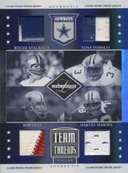 2006 Leaf Limited Team Threads Quads Prime #5 Roger Staubach/Tony Dorsett/Bob Lilly/Harvey Martin