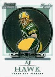 2006 Bowman Sterling #AH1 A.J. Hawk JSY RC