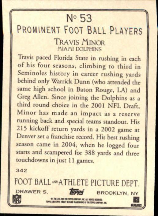 2006 Topps Turkey Red #53 Travis Minor back image