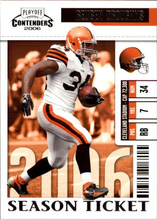 2006 Playoff Contenders #24 Reuben Droughns