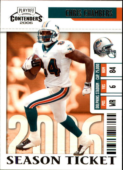 2006 Playoff Contenders #52 Chris Chambers