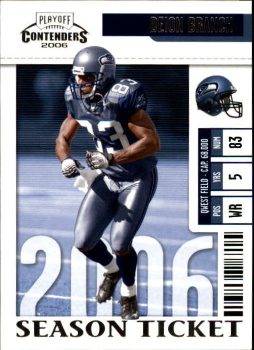 2006 Playoff Contenders #58 Deion Branch