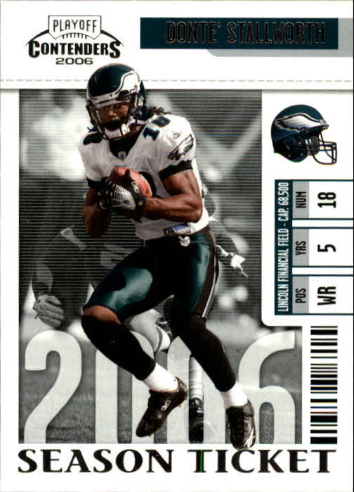 2006 Playoff Contenders #62 Donte Stallworth