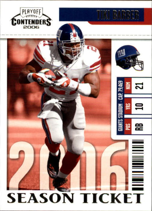 2006 Playoff Contenders #66 Tiki Barber