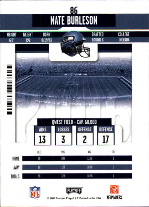 2006 Playoff Contenders #86 Nate Burleson back image
