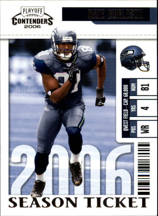 2006 Playoff Contenders #86 Nate Burleson