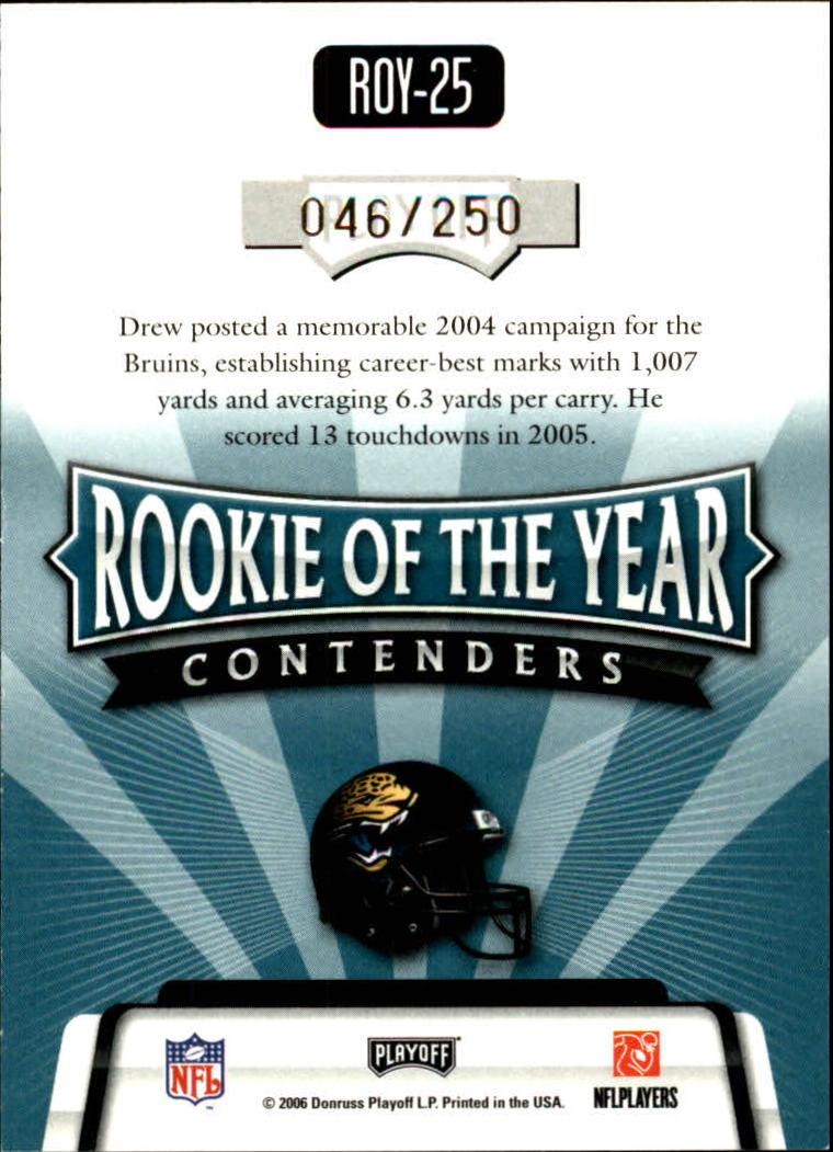 2006 Playoff Contenders ROY Contenders Gold #25 Maurice Drew back image