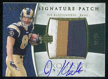 2006 Exquisite Collection Gold #119 Joe Klopfenstein JSY AU/99
