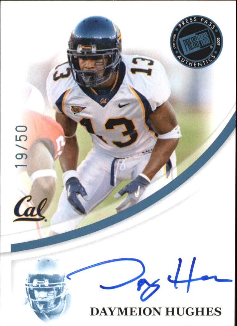 2007 Press Pass Autographs Blue #27 Daymeion Hughes/45*