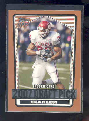 2007 Topps Draft Picks and Prospects #135 Adrian Peterson RC