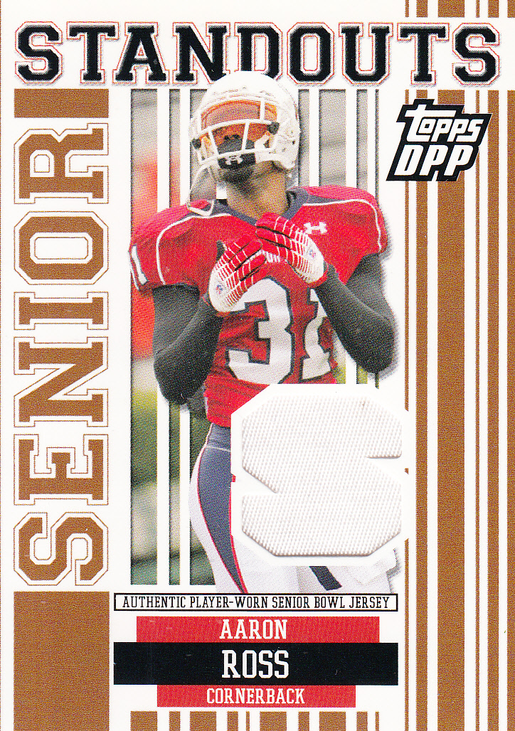 2007 Topps Draft Picks and Prospects Senior Standout Jersey Prime #AR Aaron Ross
