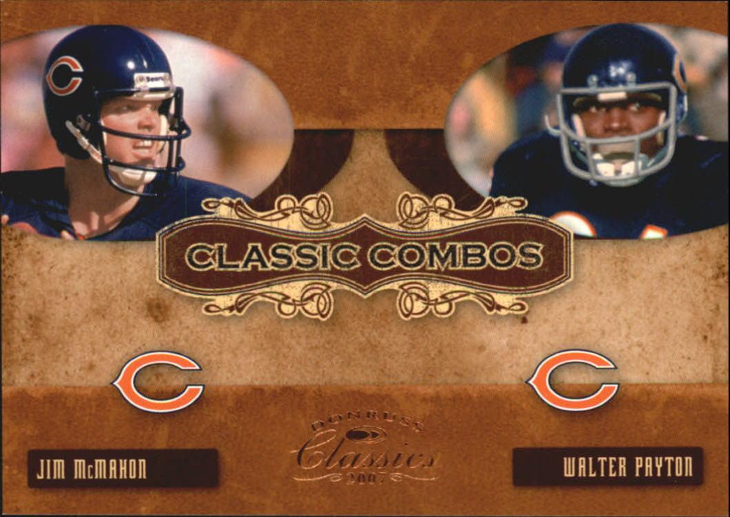 2007 Donruss Classics Classic Combos Bronze #2 Jim McMahon/Walter Payton