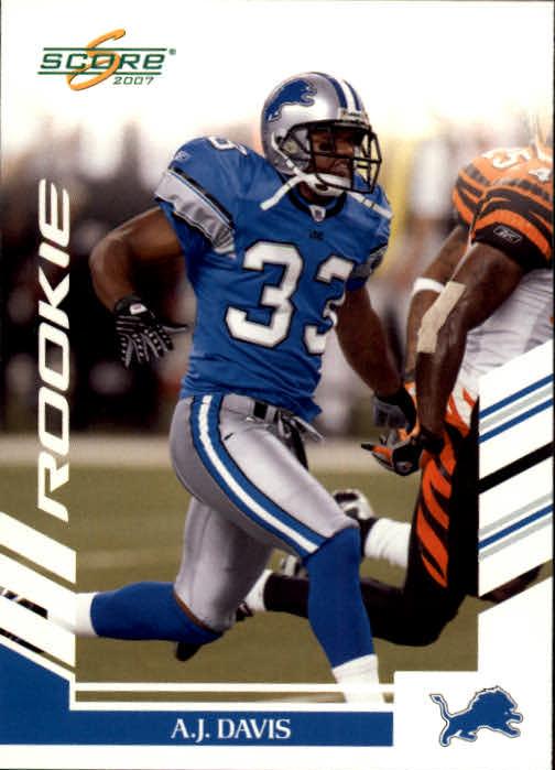 2007 Score #298 A.J. Davis RC