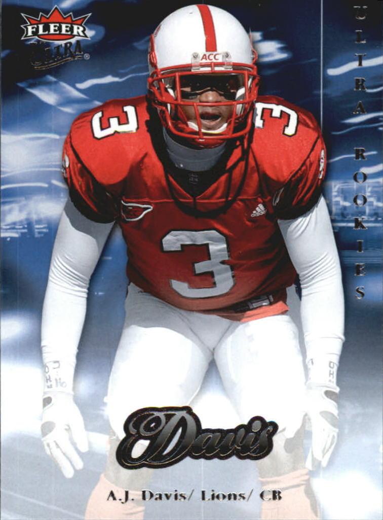 2007 Ultra Retail #298 A.J. Davis RC