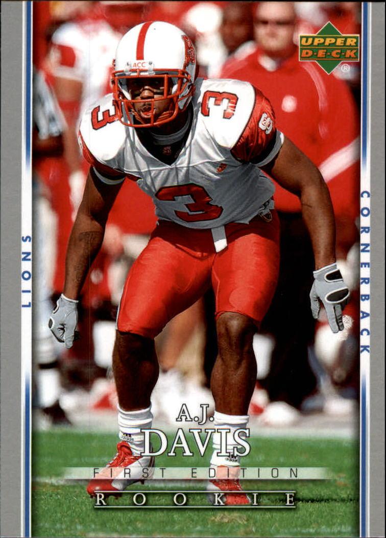 2007 Upper Deck First Edition #190 A.J. Davis RC