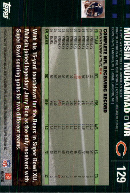 2007-Topps-Football-Base-Singles-117-223-Pick-Your-Cards