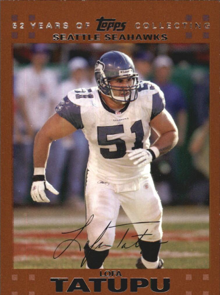 2007 Topps Copper Seattle Seahawks Football Card  281 Lofa Tatupu  2007 c4717fef1
