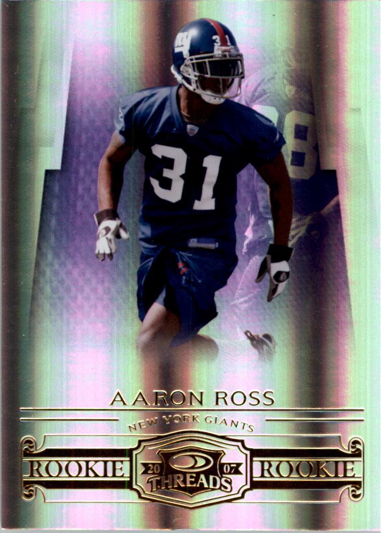 2007 Donruss Threads #215 Aaron Ross RC
