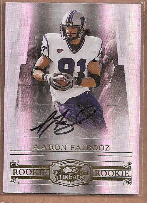 2007 Donruss Threads Rookie Autographs #209 Aaron Fairooz/250