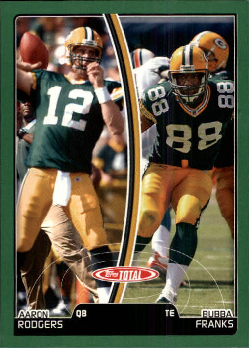2007 Topps Total #383 Bubba Franks/Aaron Rodgers