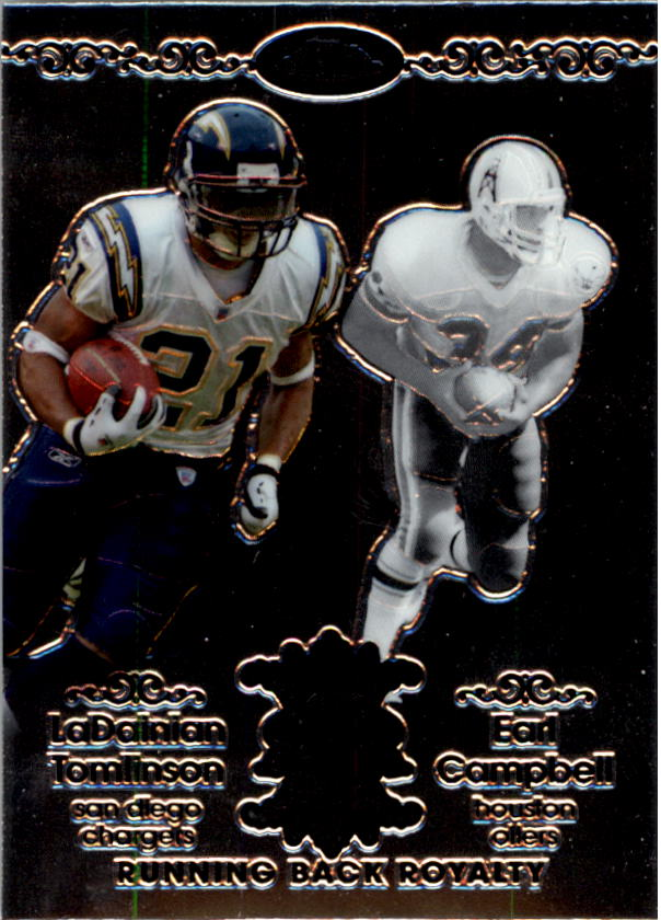 2007 Topps Chrome Running Back Royalty #TC LaDainian Tomlinson/Earl Campbell