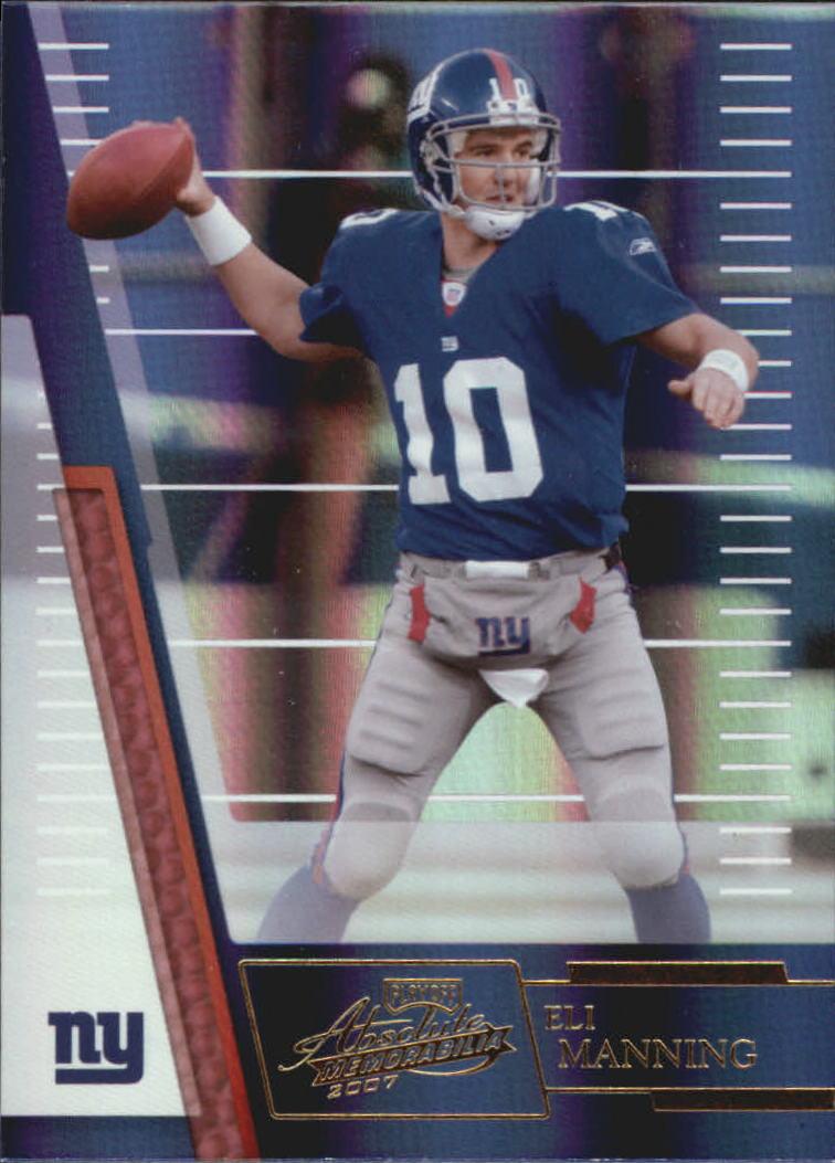 2007 Absolute Memorabilia #7 Eli Manning