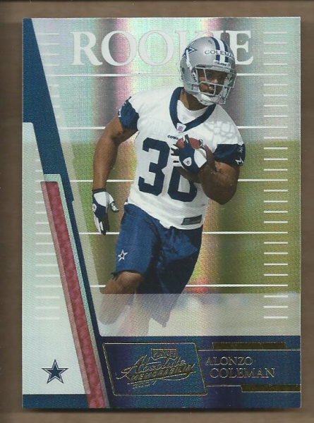 2007 Absolute Memorabilia #154 Alonzo Coleman RC
