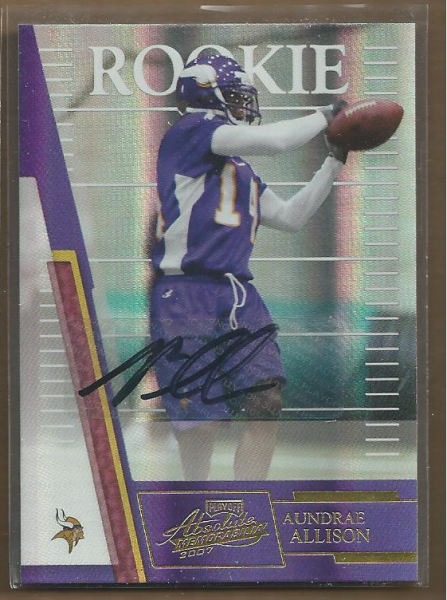 2007 Absolute Memorabilia #205 Aundrae Allison AU RC