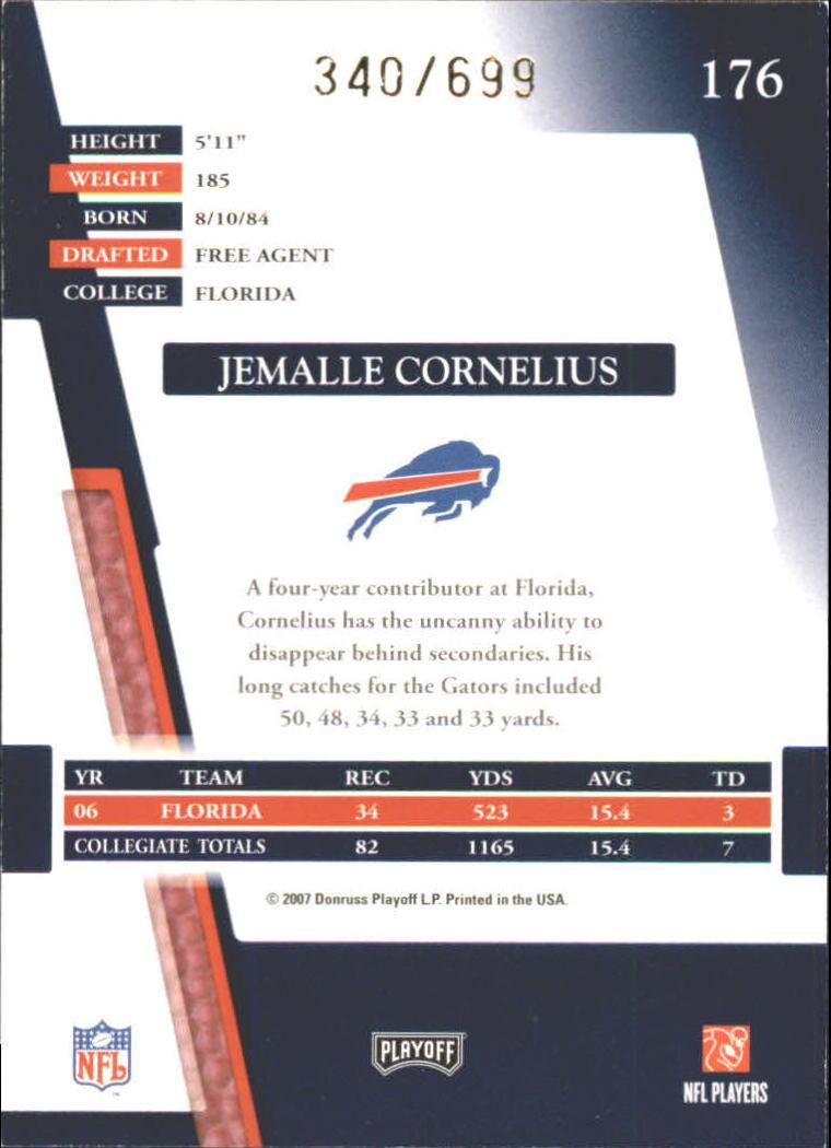 2007 Absolute Memorabilia Retail #176 Jemalle Cornelius RC back image