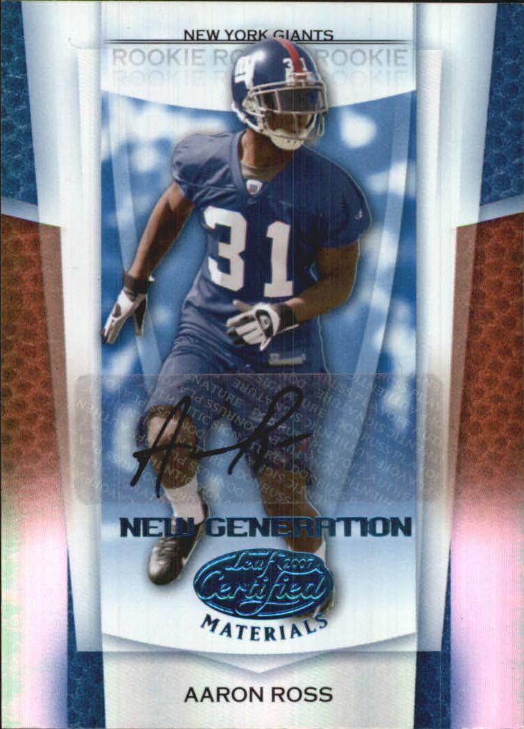 2007 Leaf Certified Materials Mirror Blue Signatures #151 Aaron Ross