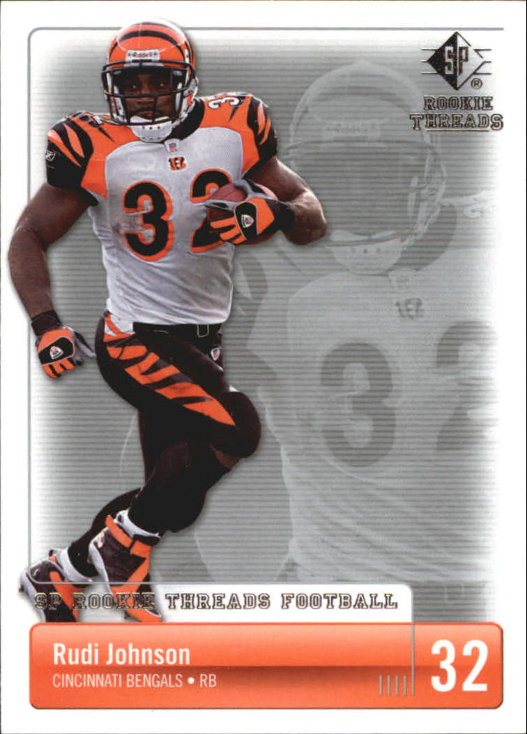 2007 SP Rookie Threads #22 Rudi Johnson