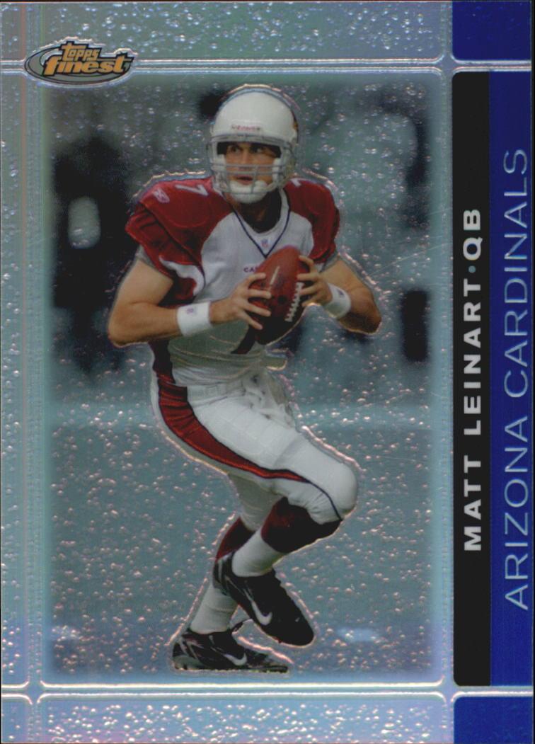 2007 Finest Blue Refractors #15 Matt Leinart