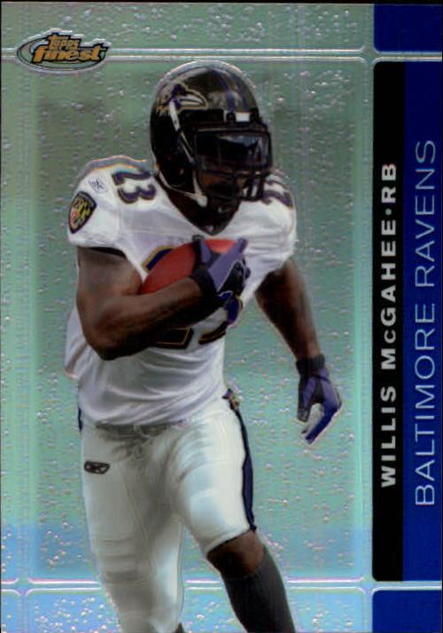 2007 Finest Blue Refractors #50 Willis McGahee