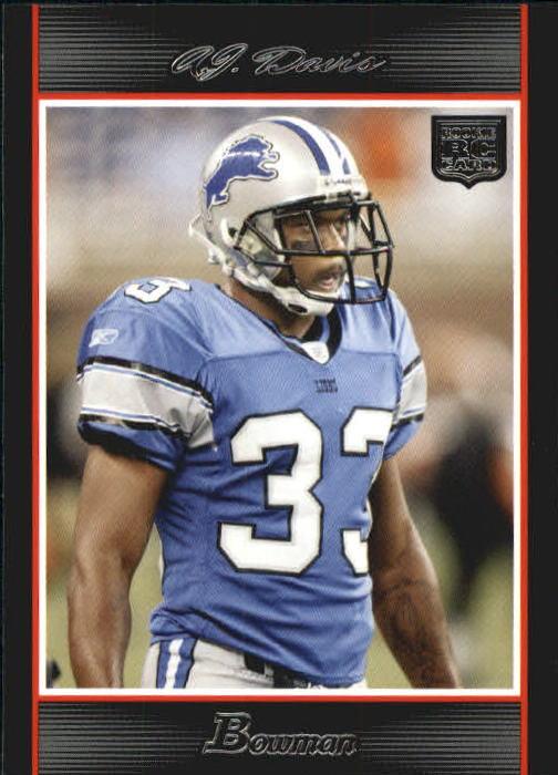 2007 Bowman #208 A.J. Davis RC