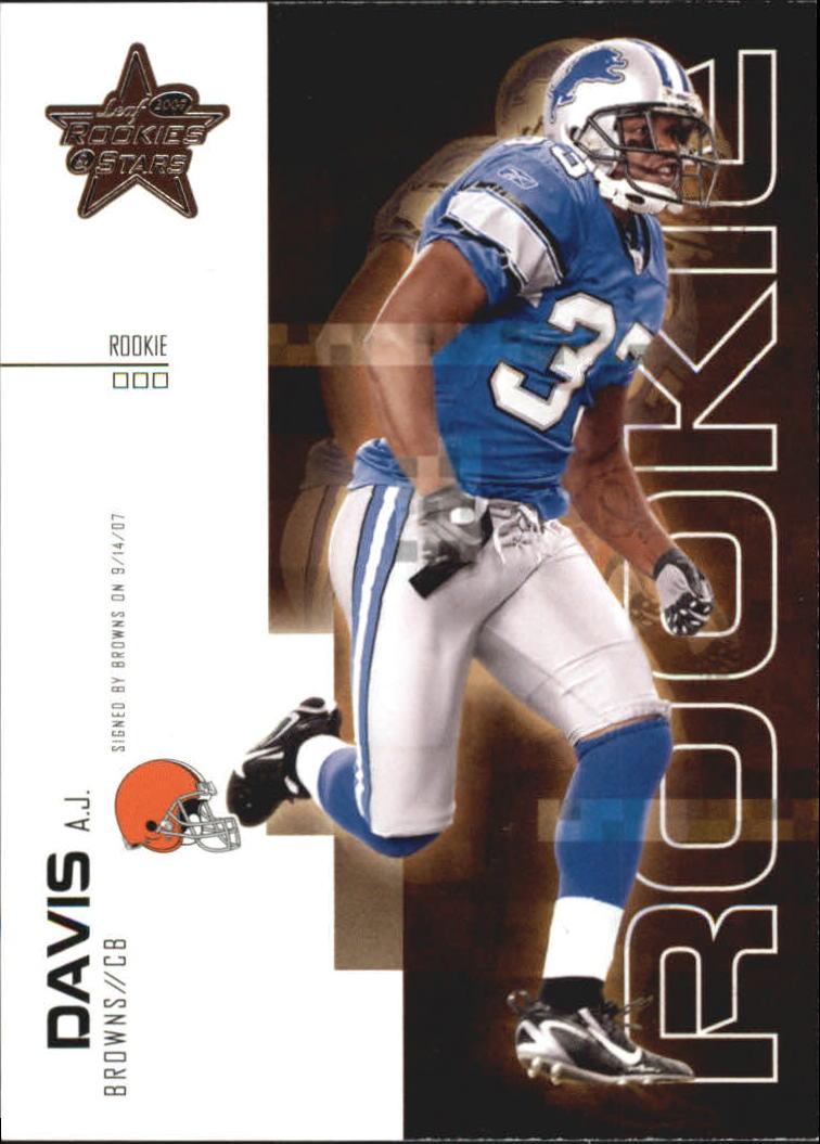 2007 Leaf Rookies and Stars #116 A.J. Davis RC