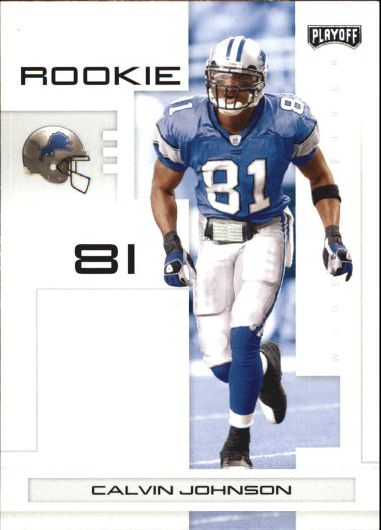 2007 Playoff NFL Playoffs #107 Calvin Johnson RC