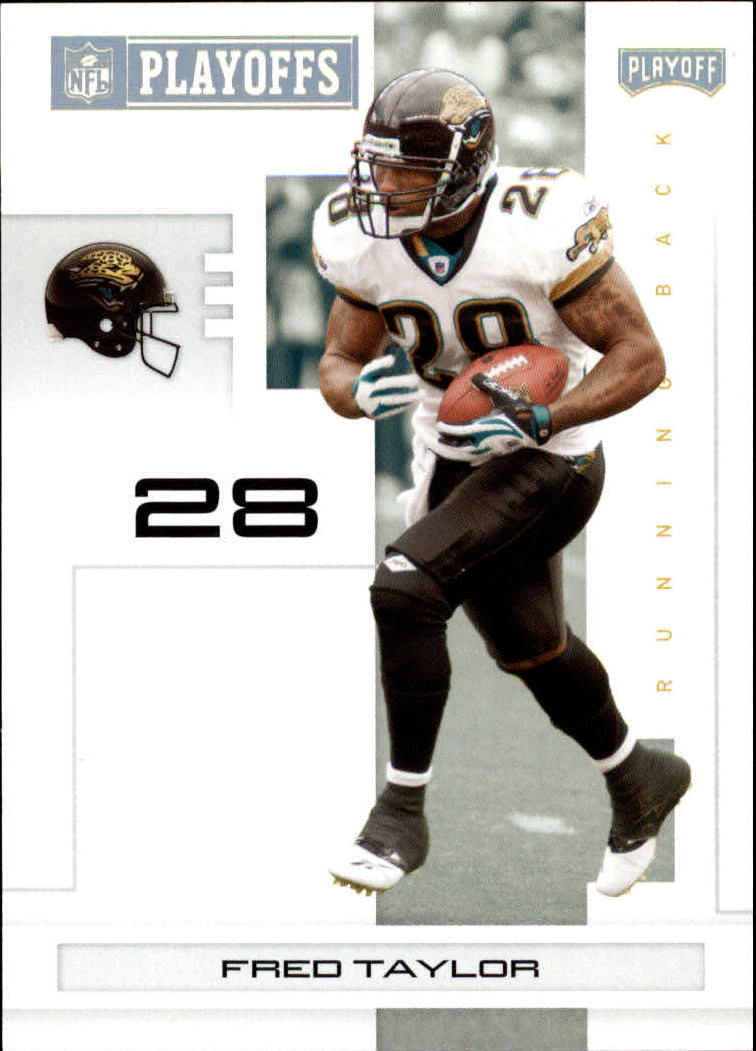 2007 Playoff NFL Playoffs Gold #46 Fred Taylor