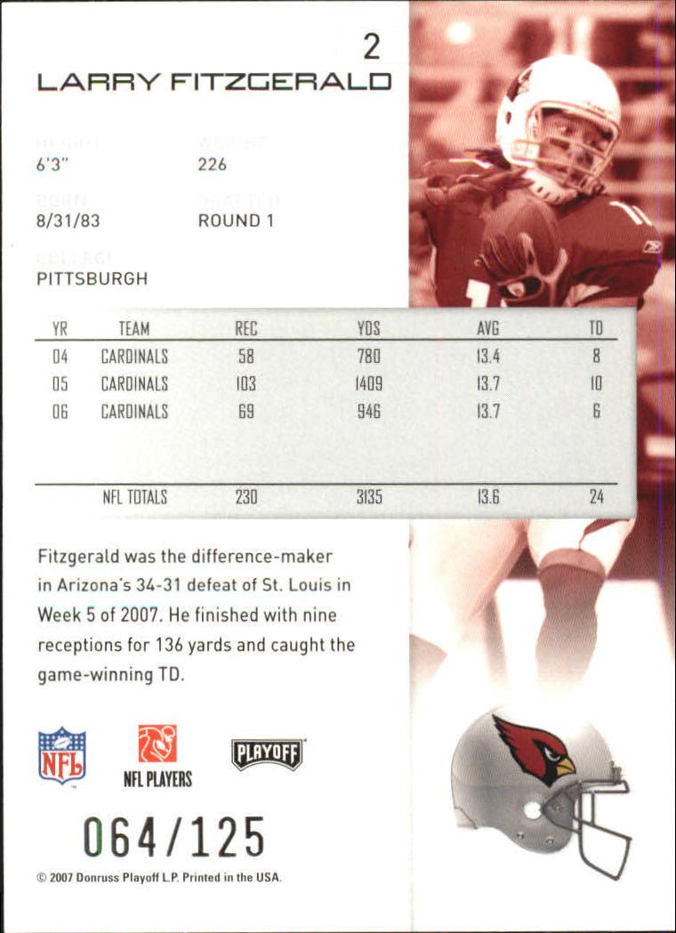 2007-Playoff-NFL-playoffs-Rojo-Metalizado-De-Futbol-Tarjeta-Pick miniatura 5