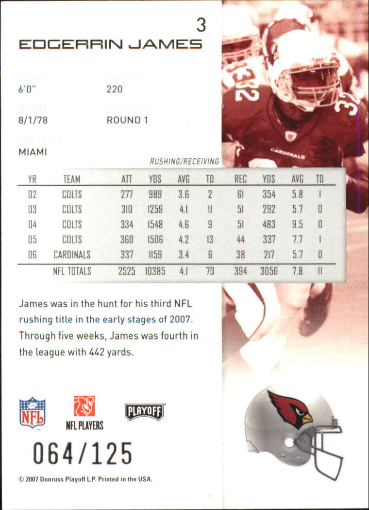 2007-Playoff-NFL-playoffs-Rojo-Metalizado-De-Futbol-Tarjeta-Pick miniatura 7