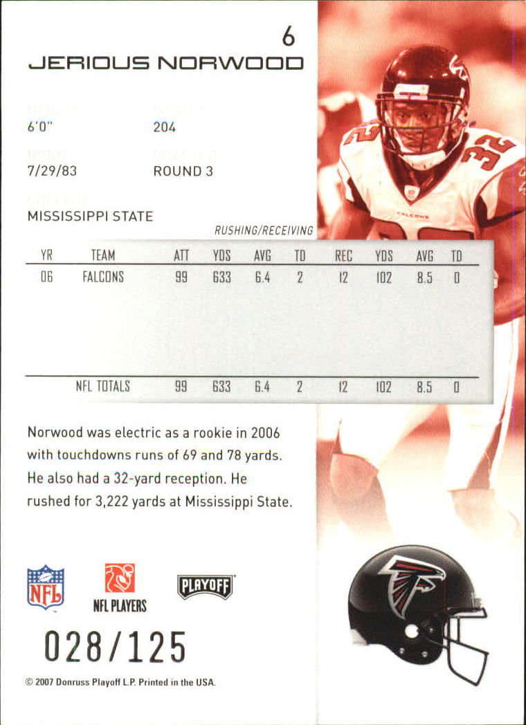 2007-Playoff-NFL-playoffs-Rojo-Metalizado-De-Futbol-Tarjeta-Pick miniatura 13