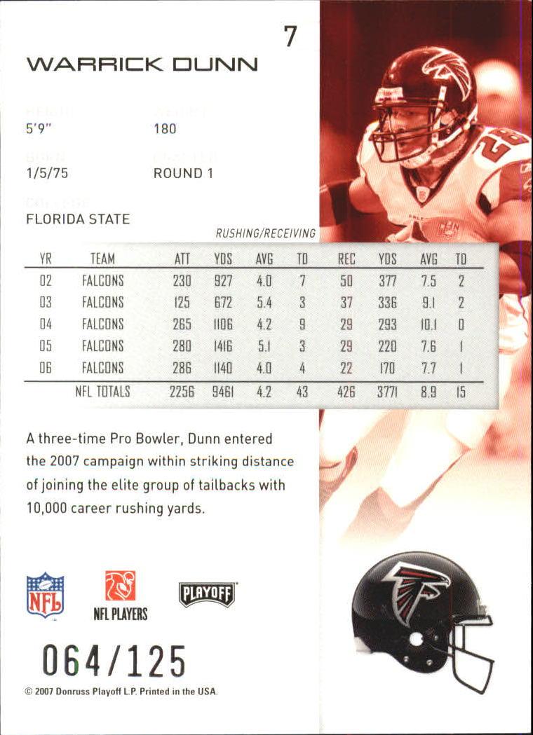 2007-Playoff-NFL-playoffs-Rojo-Metalizado-De-Futbol-Tarjeta-Pick miniatura 15