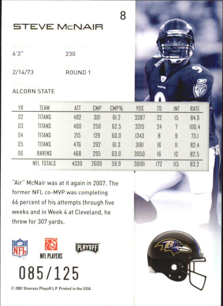 2007-Playoff-NFL-playoffs-Rojo-Metalizado-De-Futbol-Tarjeta-Pick miniatura 17