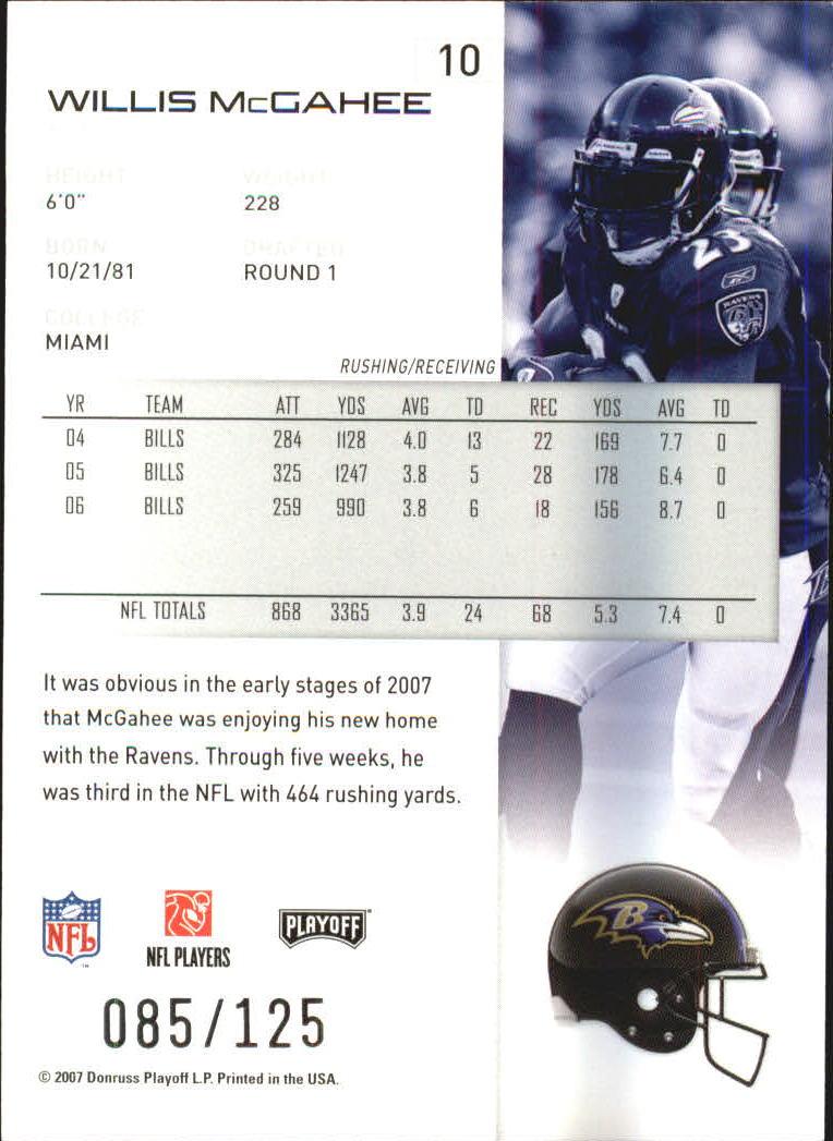 2007-Playoff-NFL-playoffs-Rojo-Metalizado-De-Futbol-Tarjeta-Pick miniatura 21