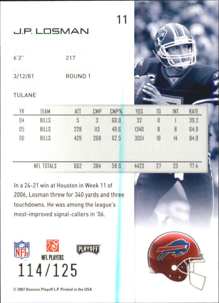 2007-Playoff-NFL-playoffs-Rojo-Metalizado-De-Futbol-Tarjeta-Pick miniatura 23