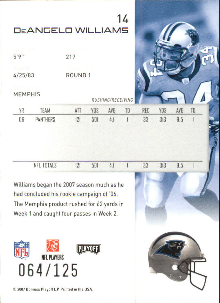 2007-Playoff-NFL-playoffs-Rojo-Metalizado-De-Futbol-Tarjeta-Pick miniatura 29