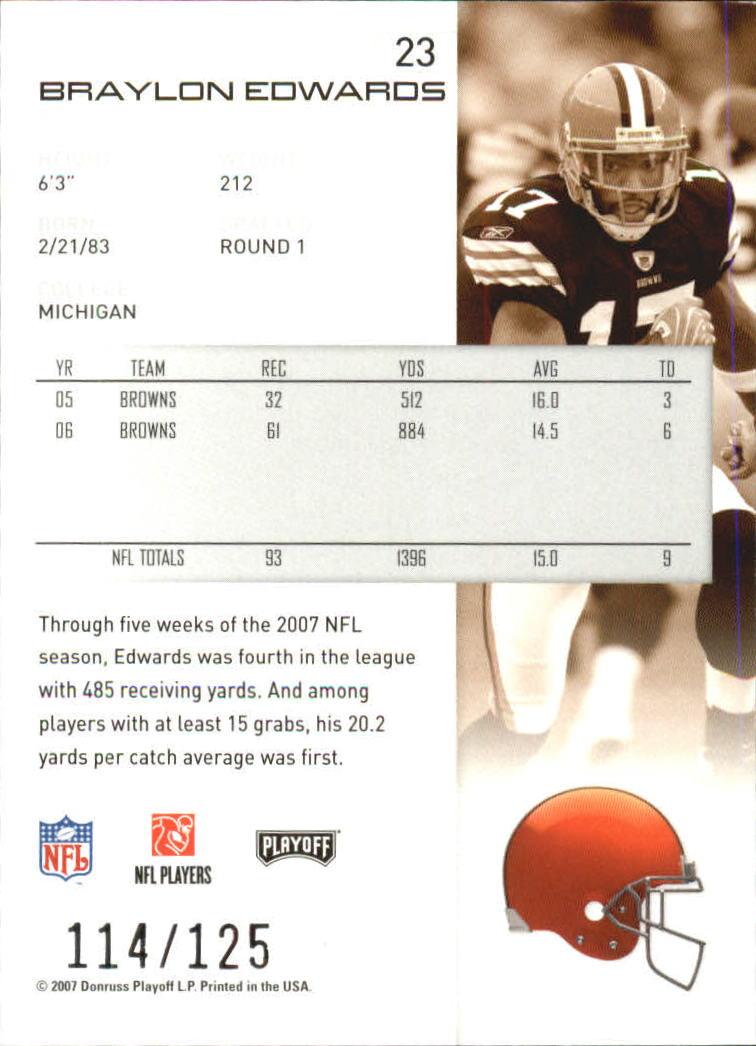 2007-Playoff-NFL-playoffs-Rojo-Metalizado-De-Futbol-Tarjeta-Pick miniatura 47