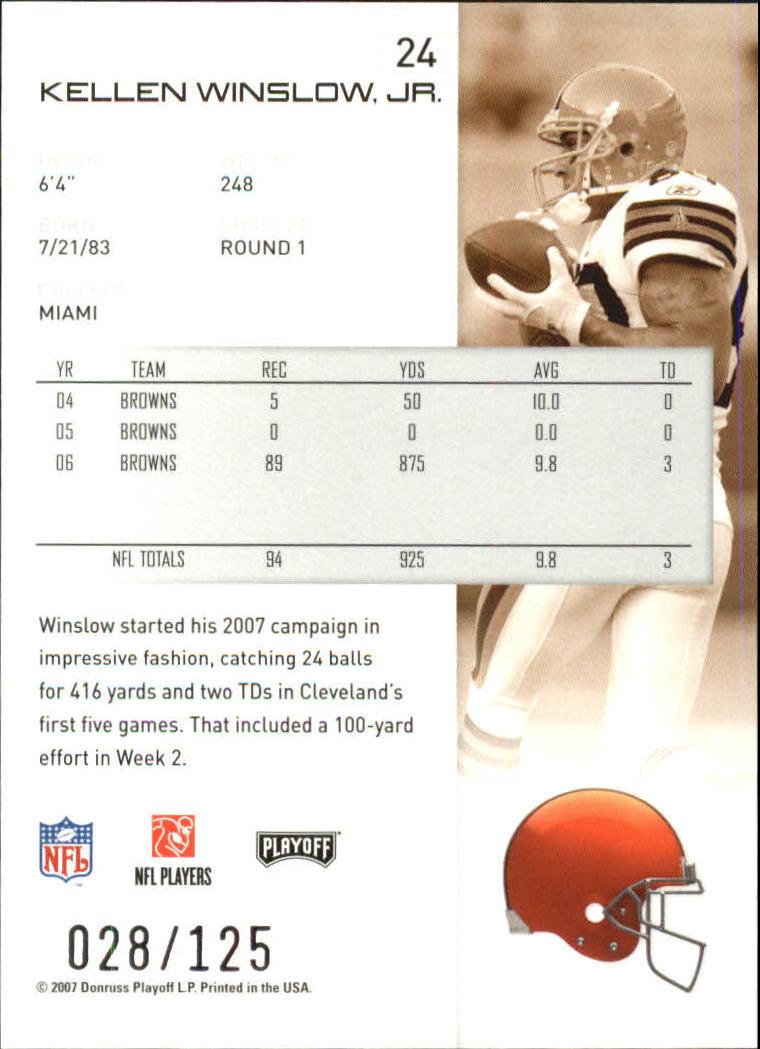 2007-Playoff-NFL-playoffs-Rojo-Metalizado-De-Futbol-Tarjeta-Pick miniatura 49