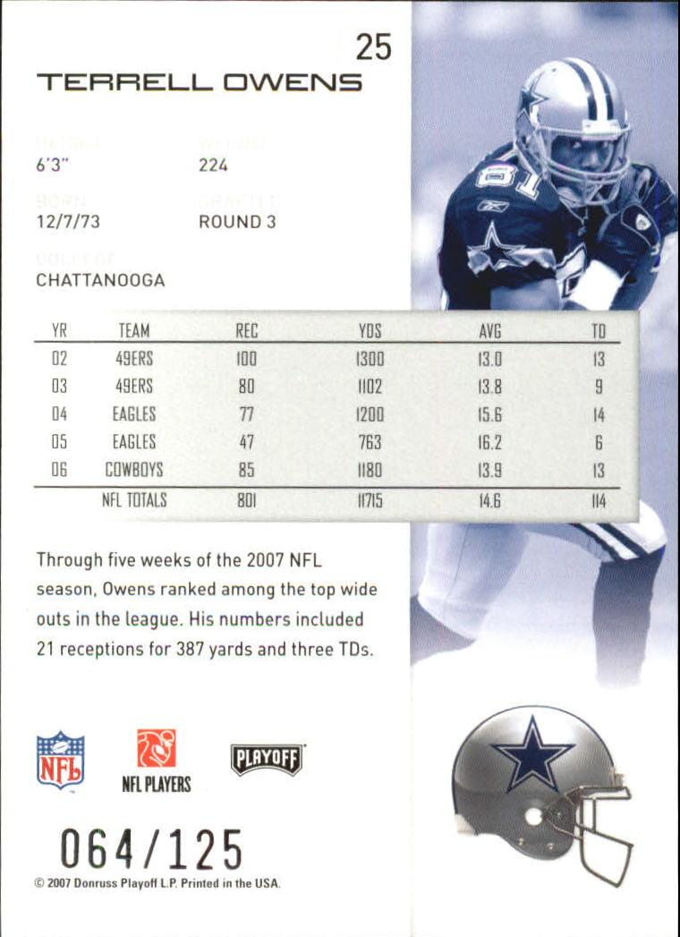 2007-Playoff-NFL-playoffs-Rojo-Metalizado-De-Futbol-Tarjeta-Pick miniatura 51