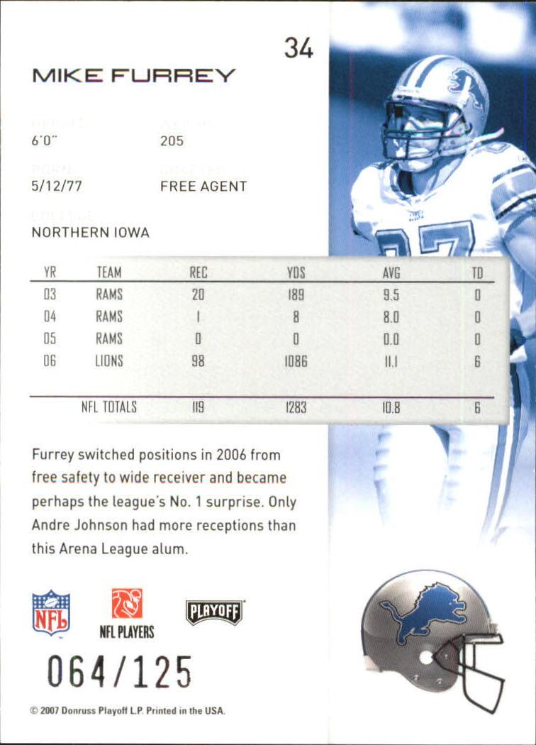 2007-Playoff-NFL-playoffs-Rojo-Metalizado-De-Futbol-Tarjeta-Pick miniatura 69